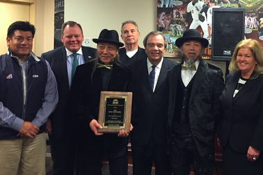 The South Loop Chamber of Commerce honored The Zhou Brothers at its annual fundraiser Thursday night for their commitment to creating and developing Bridgeport's booming art scene.