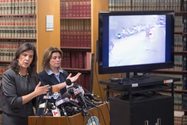 Cook County State's Attorney Anita Alvarez, left, and assistant state's attorney Lynn McCarthy at a press conference Monday discussing the video of the shooting of Ronald Johnson.