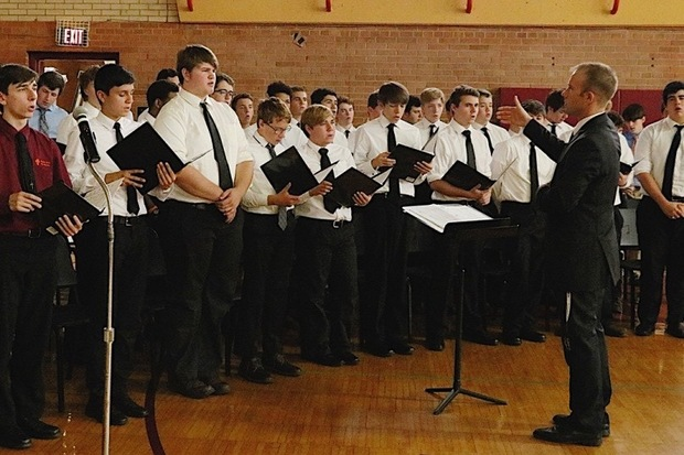 The choir at Brother Rice High School in Mount Greenwood will visit Rome and Vatican City with fellow choir members from neighboring Mother McAuley Liberal Arts High School. The combined choir will perform as part of a massive, 5,000-member international choir.