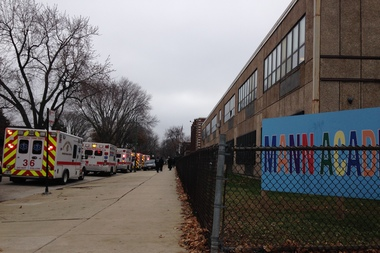About 20 students and staff at Horace Mann Elementary in South Shore were taken to area hospitals after carbon monoxide was detected in the school early Thursday, according to the Chicago Fire Department.