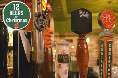 Drink your way through 12 Christmas beers at Mrs. Murphy's Irish Bistro and Murphy's Bleachers to win Cubs rooftop beer fest tix.