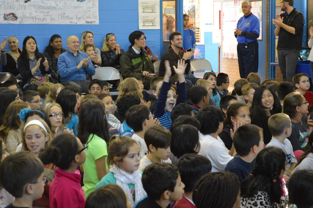 Decatur students and parents from grades 3-6 packed into the gym for an awards ceremony recently. The gym has been approved for no more than 95 occupants by the city.