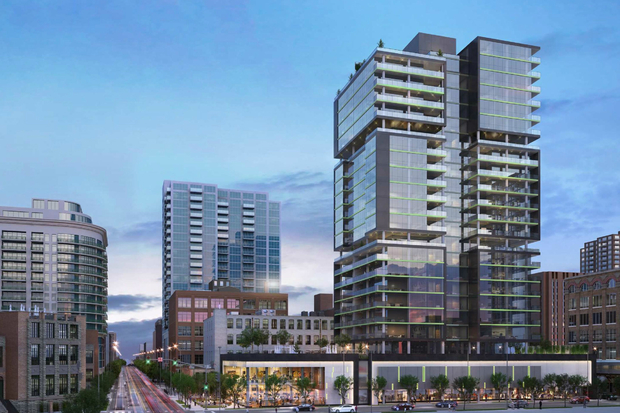 Here's a first look at the latest condominium tower proposed in River North.