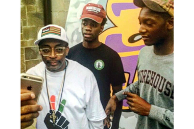 Chicago 19-year-old Frank Lawrence Jr. (c) with Spike Lee.