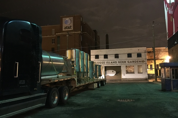 Following its final season in Wrigleyville, Goose Island removed its brewing equipment Nov. 17.