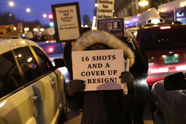 Protesters have accused Chicago police and city officials for