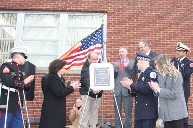 The post office in Mount Greenwood was renamed on Sunday afternoon for the late Chicago Fire Capt. Herbert T.