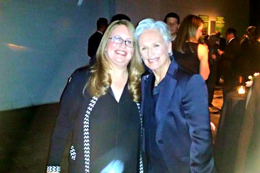 No Shame On U founder Miriam Ament at a mental health event with actress and mental health advocate Glenn Close.
