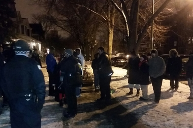 Wednesday night's protest in front of the mayor's home wasn't as loud as the previous one.