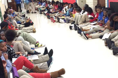DuSable Campus students organized a sit-in to get CPS to bring back their librarian.