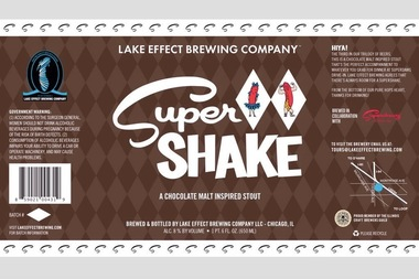 Super Shake, a chocolate stout from Superdawg and Lake Effect Brewery ...