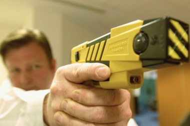 A Taser stun gun can be seen in this file photo.