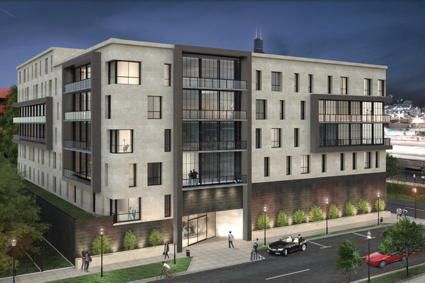 Under the latest pitch, developer Property Markets Group now plans to develop 99 apartments at the 1350 S. Union Ave. site in University Village.