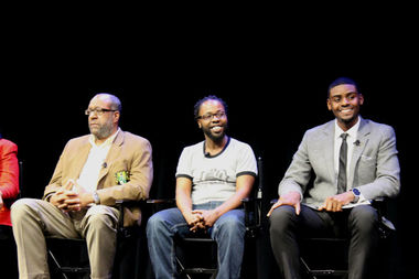 (from l.) Brian Powers, co-founder of Blue Ocean Logic; Dominic Liddell, founder of Coding While Black; and Fabian Elliott, founder of Black Tech Mecca and Google exec
