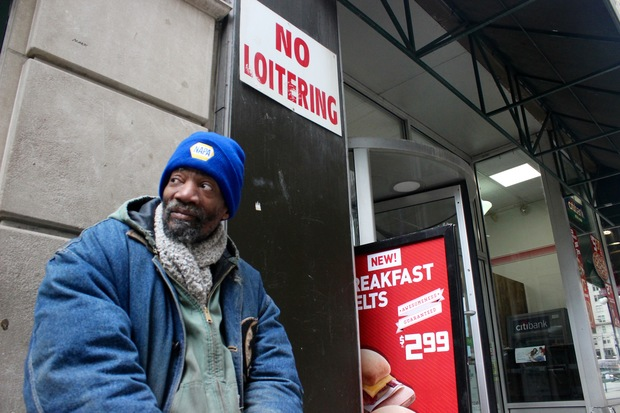 Curtis Lockett said the clerks at a 7-Eleven store in the Loop are kinder to him than most.