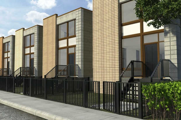 A developer is planning to build out a series of homes in Humboldt Park near the 606 with an asking price of more than $900,000 each.