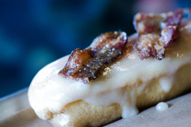 Like the sounds of a maple pepper bacon long john? You can win at year's worth for free at Firecakes.