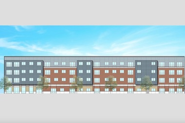 The proposed 55-unit building would reserve some units for veterans, developers said.