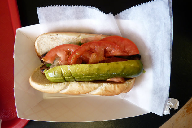 Single digit temps are expected as Doug Sohn recreates his famed hot dog joint at Publican Quality Meats Monday.