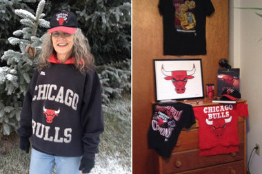 Karen Wessel, daughter of Dean Wessel, who designed the Bulls' logo, has lived in Alaska for decades but is still a rabid Bulls fan.