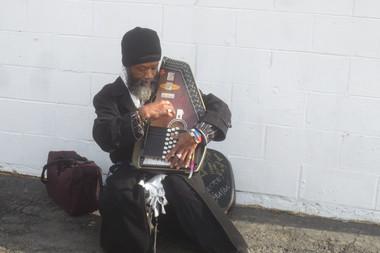 Musician on MLK Drive