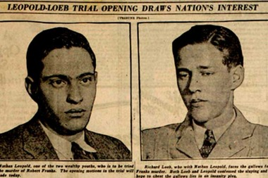 A newspaper clipping from the trial of Leopold and Loeb.