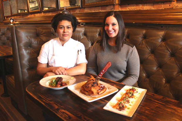 Chef Mariela Bolaños (left)  and restaurateur Gina Stefani (right) plan to open MAD Social, a new restaurant and bar, at 1140 W. Madison St. in early February.