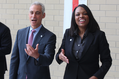 Mayor Rahm Emanuel and CPS Chief Education Officer Janice Jackson both tout the gains to be had from better school attendance.