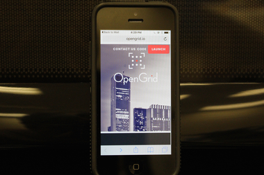 The city's new OpenGrid site is available as a smartphone app.