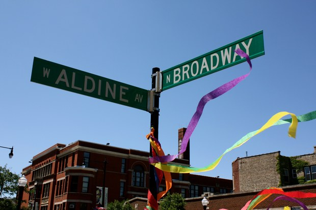 Broadway and Aldine Avenue