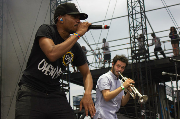 Chance the Rapper and Nico Segal at T.I.P. Fest in 2015 at Northerly Island.