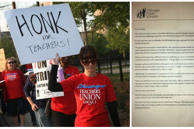 Chicago Public Schools sent students home with a letter that angered the Chicago Teachers Union and some parents this week.
