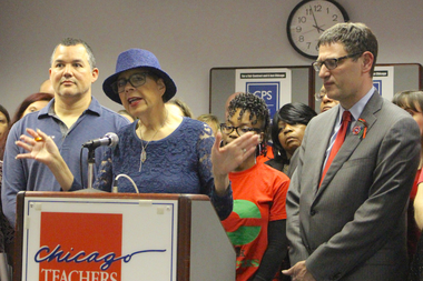 Chicago Teachers Union President Karen Lewis and Vice President Jesse Sharkey (r.) say CPS' actions could speed a teacher strike.