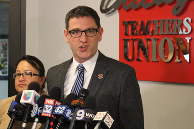 Chicago Teachers Union Vice President Jesse Sharkey says Chicago Public Schools is courting an immediate strike if it halts a 7 percent pension pickup.