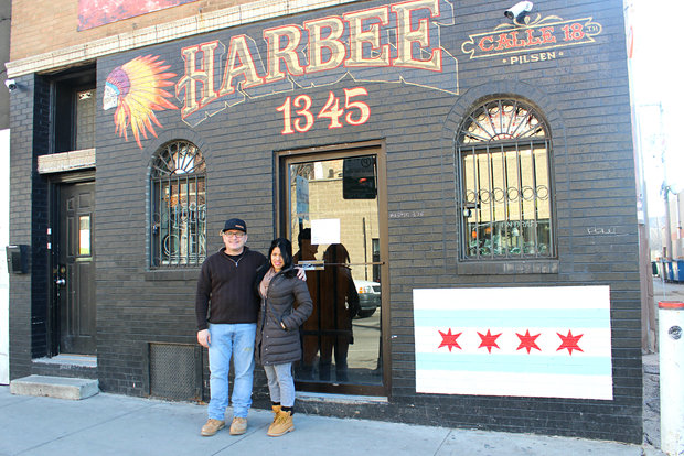 Owner Steve Frytz and wife Yuliet Frytz plan to reopen Harbee Liquors and Tavern, a historic bar in Pilsen, in March.