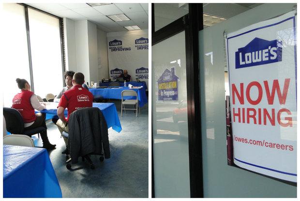hiring center for lowes 1300 n ashland ave dnainfoalisa hauser - Lowes Hardware Job Application