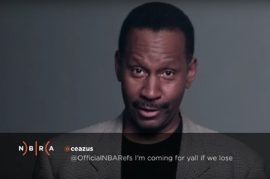 NBA official James Capers, who lives in Chicago, reads a mean tweet directed at him.