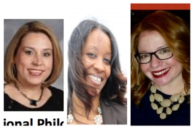 The three finalists for the principal role at The Nettelhorst School are [from l.] Heather Connolly, Yasmeen Muhammad-Leonard and Jennifer Dixon.