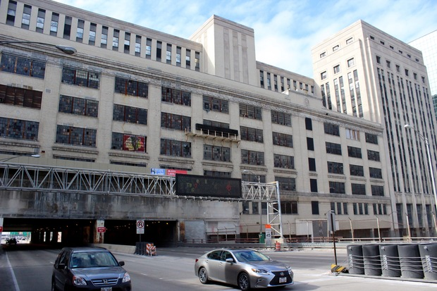 The Old Main Post Office straddling Congress Parkway has sat vacant since 1996.