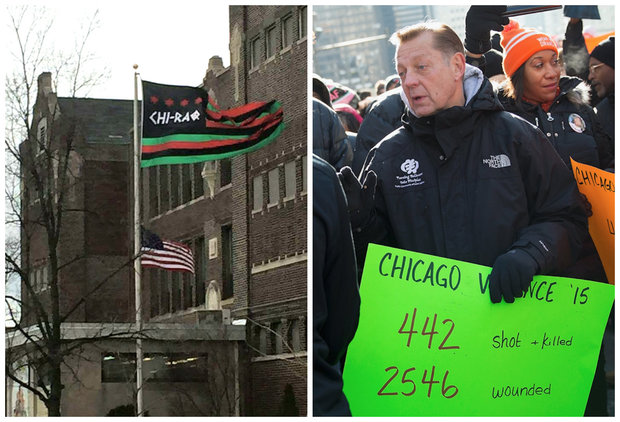 This week, people from across the country slammed Rev. Michael Pfleger on social media after a Chi-Raq flag was spotted above a U.S. flag at his St. Sabina Church on the South Side.