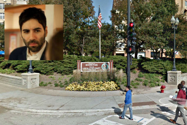 Roosh Valizadeh (inset) called on his followers to meet at the flagpole in Rogers Park Saturday.