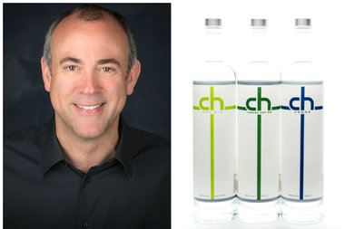 CH Distillery co-founder Tremaine Atkinson (left); CH Distillery spirits (right)