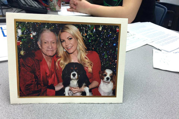 Steinmetz High School alum Hugh Hefner, who is also the founder of Playboy, sends a card to the Steinmetz Star office each year wishing the student journalists good luck in the coming year. Here he is pictured in 2015 with wife Crystal Hefner.