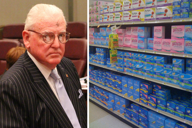 Ald. Ed Burke (14th) called taxing tampons and pads