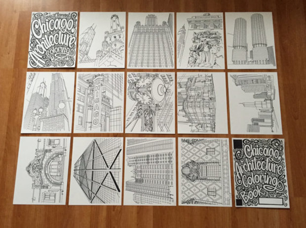 Check Out Chicago\'s Most Iconic Buildings, In Coloring Book Form ...