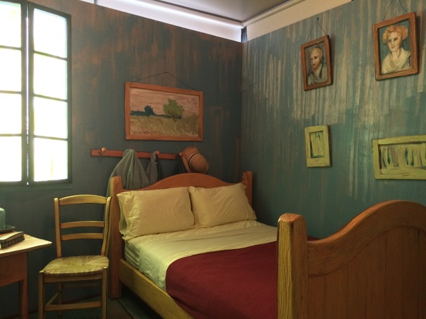 A reporter documents his stay in an Airbnb designed after a Van Gogh painting.