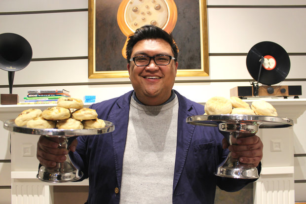 Baker Joe Dela Pena (pictured) and trader Francis Wisniewski opened Warm Belly Bakery this week at 1148 W. Monroe St. in the West Loop.