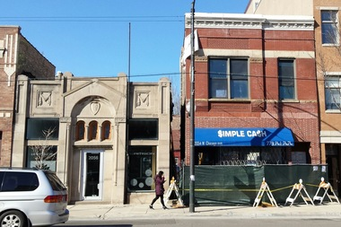 Uk village pawn shop building across from mariano 39 s demolished ukrainian village chicago Easy pond shop