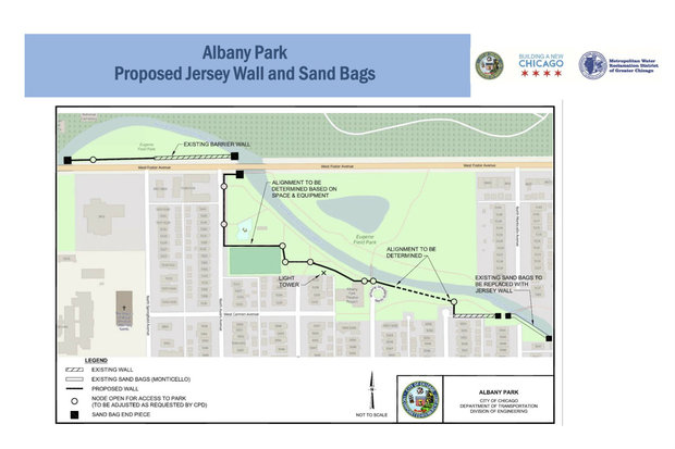 Flood Wall Proposed While Albany Park Tunnel Under Construction