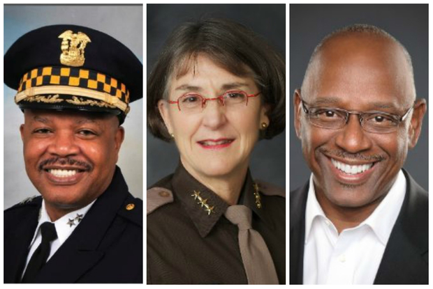 (left to right) Eugene Williams, Anne Kirkpatrick and Cedric Alexander are finalists for Chicago's police superintendent job.